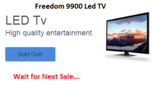 Freedom 9900 TV Sale Status