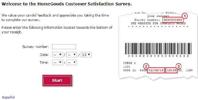 Homegoods com Survey