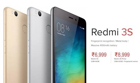 Xiaomi Redmi 3S Price in India Buy