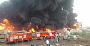 Fire at Yarn Manufacturing Factory at Hariyal, Surat