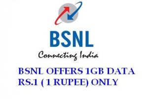 BSNL 1 GB Data at Just Rs. 1