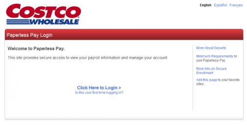 Costco Employee Account Enrollment
