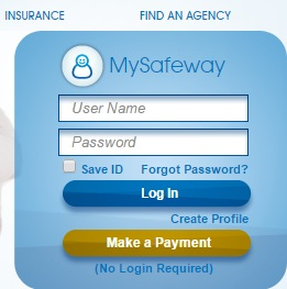 My Safeway Insurance Policy Payment Login