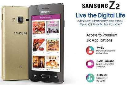 Samsung Z2 with Jio Offer