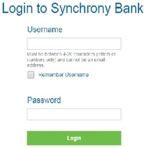 Synchrony Bank Bill Pay Login