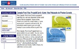 Canada Post Visa Card Activation