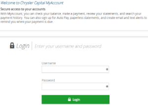 Chrysler Capital Login My Account