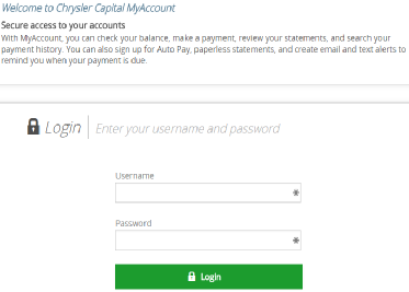 Chrysler Capital Sign Up for Auto Pay and Paperless Statements