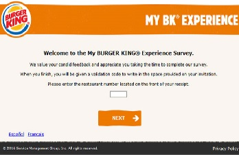 bk-feedback-uk.com/ Burger King Experience