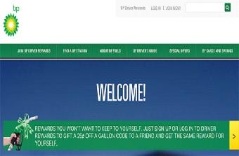 BP Gas Station Reward Registration/ Login
