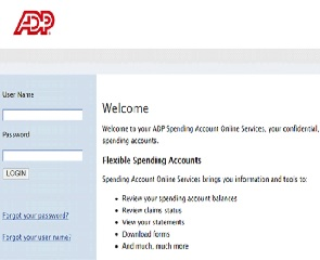 Flexible Spending Account Login ADP / Card Sign In