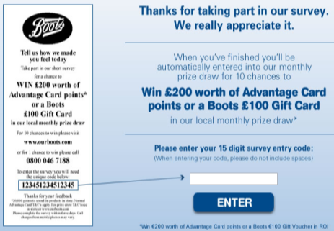 Our Boots Pharmacy co UK Survey