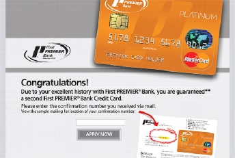 First Premier Second Card Offer / Credit Card Customer Service