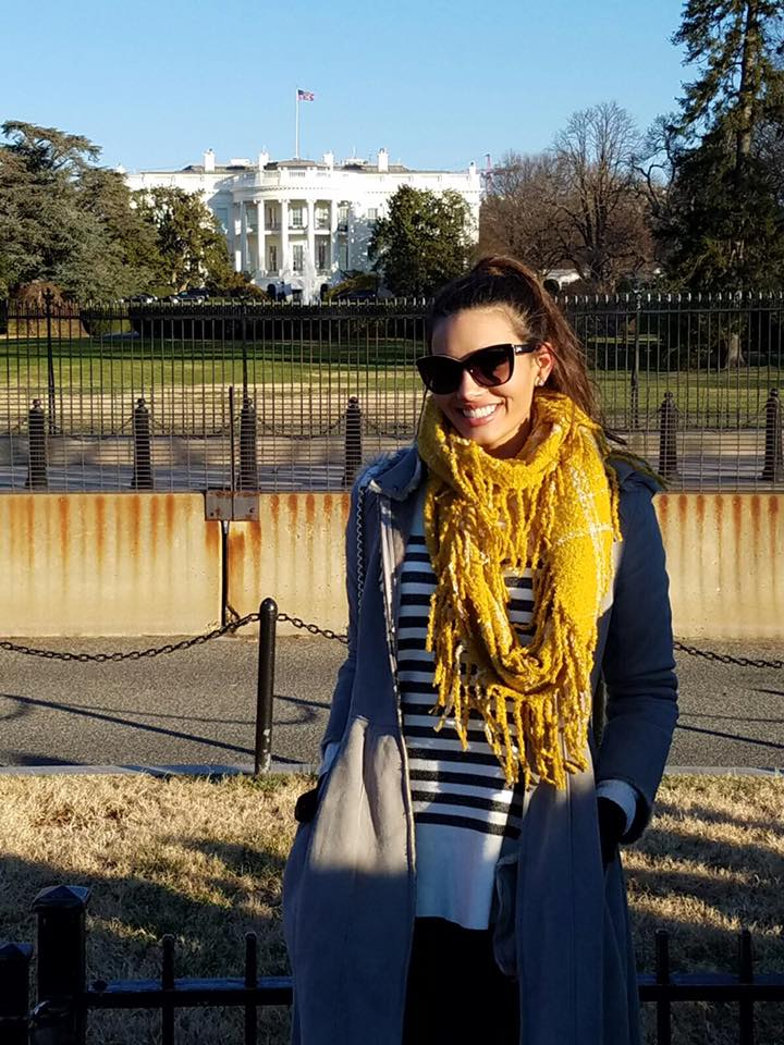 Stephanie Del Valle photo in yellow scarf