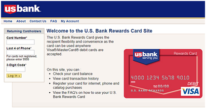 US Bank Rewards Card Login and Balance Check