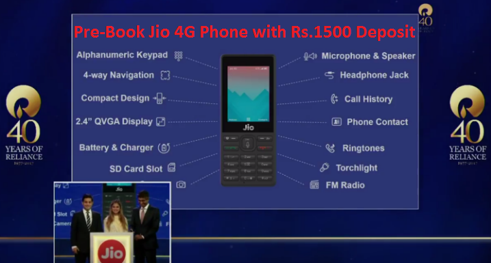 JioPhone Booking Page