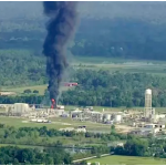 Texas Chemical Plant Explosion 2017 – Flames and Smoke at Houston Area