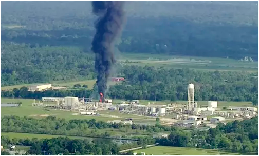 Texas chemical plant explosion 2017 photo