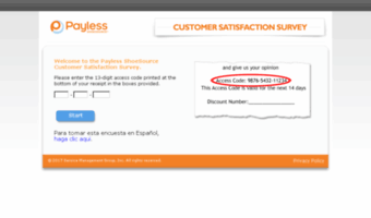 Tellpayless.com : The Payless ShoeSource Customer Satisfaction Survey 2021