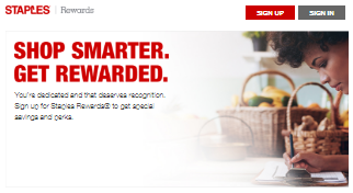 my staples rewards account login
