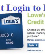 MyLowe's Credit Card Account Login – www.lowes.com Credit Pay Bill