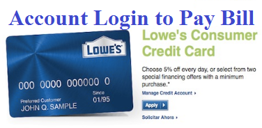 MyLowe's Credit Card Account Login - www.lowes.com Credit Pay Bill