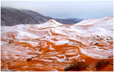 Sahara Desert Snowfall 2018