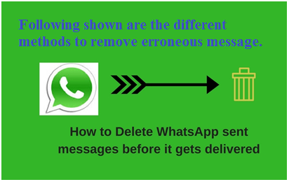 Delete WhatsApp Message before Delivery
