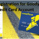 Registration for Goodyear Credit Card Account Online