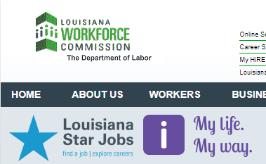 Laworks.net My Hire: Louisiana Unemployment Register as Jobseeker