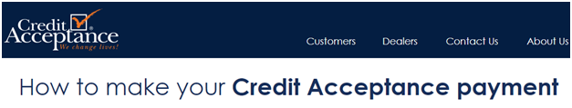 Credit Acceptance Payment Options - My Online Account Login