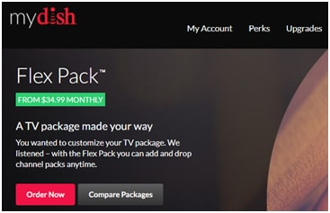 Dish Network TV Packages Prices - $34.99 Dish Flex Pack Channels