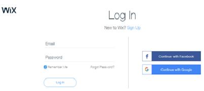 User-wix-com Sign In
