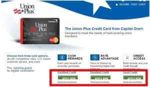 Union Plus Credit Card Program