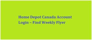 Home Depot Canada Account Login