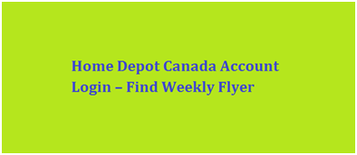 Home Depot Canada Account Login