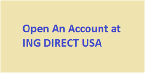 Open An Account at ING DIRECT USA
