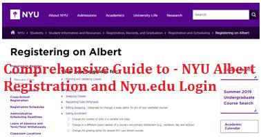 Comprehensive Guide to - NYU Albert Registration and Nyu.edu Classes Log In