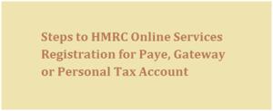 Register for HMRC Paye Online