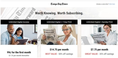 About TampaBay.com e-Newspaper Subscription: Renewal & Online Deals