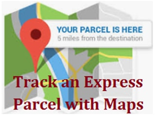 How do I track an Express Parcel with Google Maps?