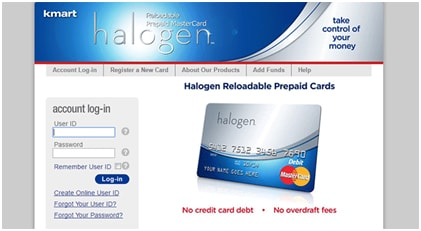 Register your Halogen Prepaid Card Account