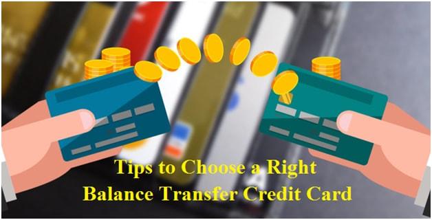 Choose a right balance transfer credit card