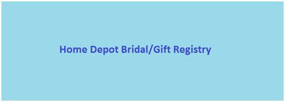 Myregistry.com: Home Depot Bridal/Gift Registry