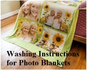 Washing instructions for photo blanket