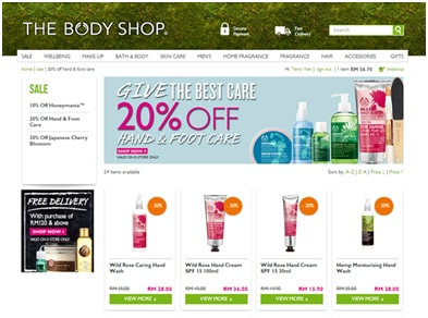 About www.bodyshop.com: Retailer of Beauty Products