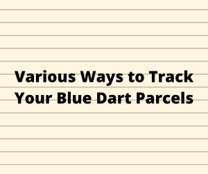 Online Track Blue Dart