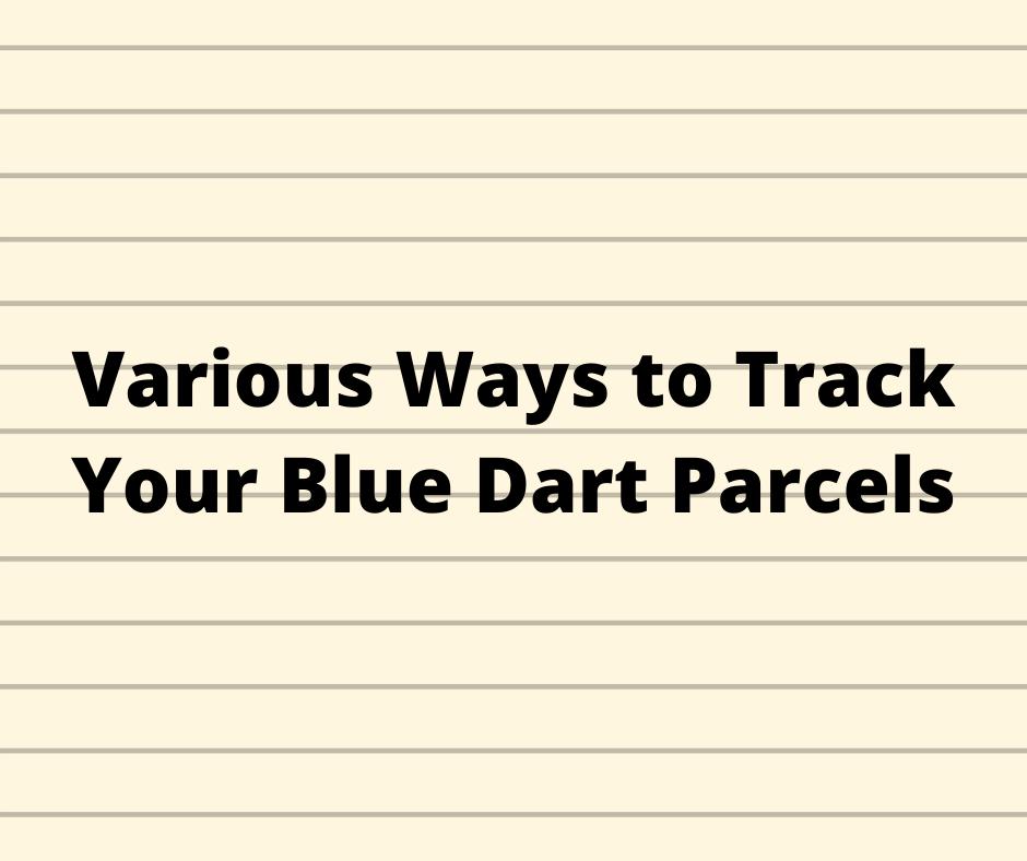 tracking blue dart online