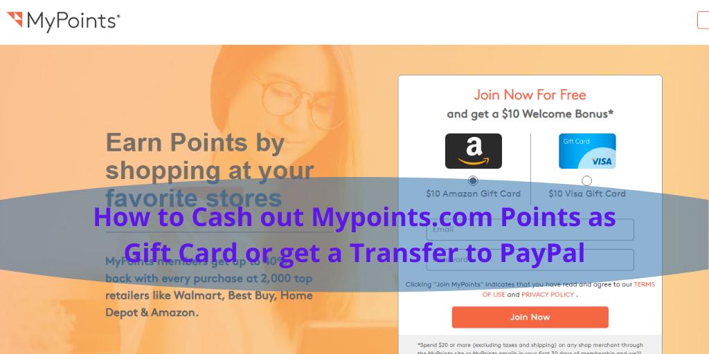 Redeem Mypoints.com
